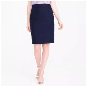 "J. Crew ""The Pencil Skirt"" in navy, 100% cotton"